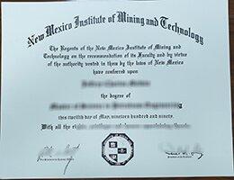 New Mexico Tech diploma
