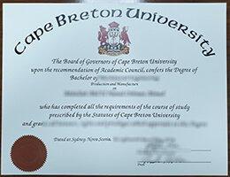 Cape Breton University diploma