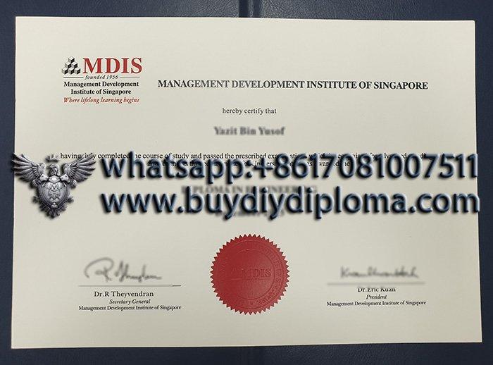fake Management Development Institute of Singapore degree