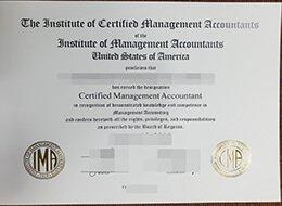 Fake CMA Certificate