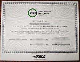 CISM Certificate
