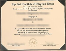 Art Institute of Virginia Beach diploma