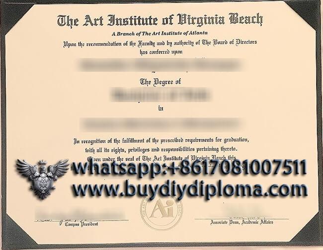 The Art Institute of Virginia Beach diploma