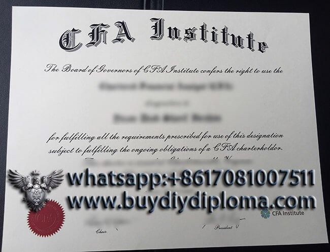 Obtain Fake CFA certificate? Buy fake certificate online