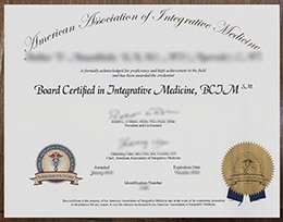 American Association of Integrative Medicine license, fake AAIM license, fake BCJM certificate,