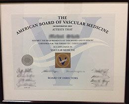 American Board of Vascular Medicine certificate, fake ABVM certificate, fake Medicine certificate,