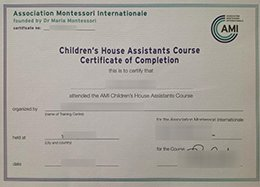 AMI Assistants Certificate