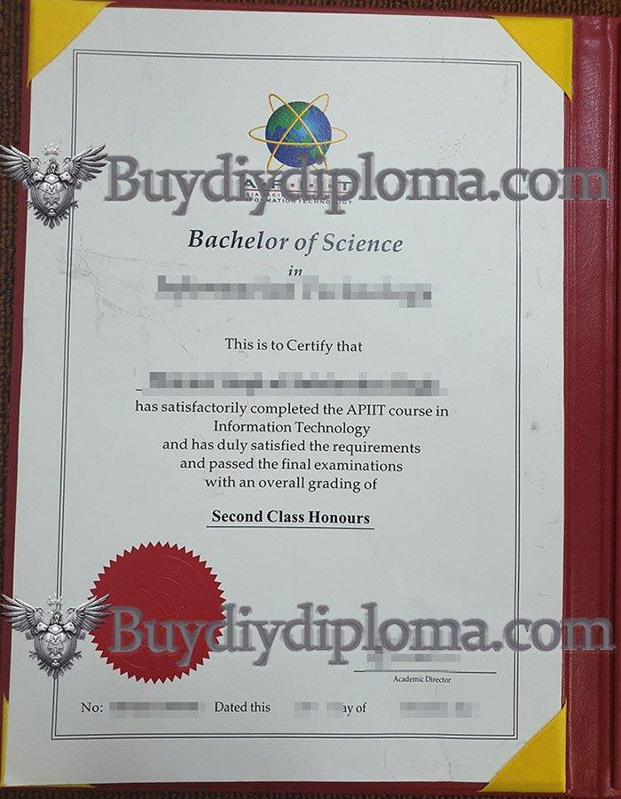 fake Asia Pacific IIT diploma, fake APIIT certificate