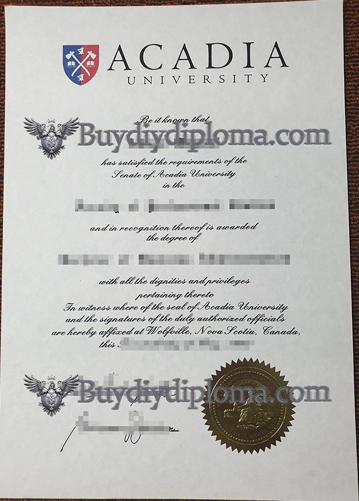 fake Acadia University diploma, buy Acadia University degree,