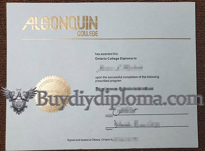 buy a fake Algonquin College diploma online