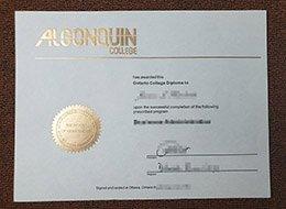 fake Algonquin College diploma