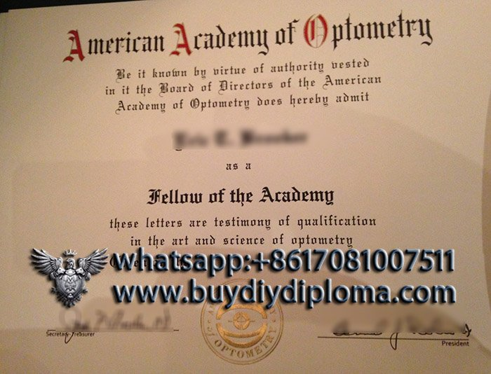 Easy way to get a fake AAO certificate in America, buy US certificate