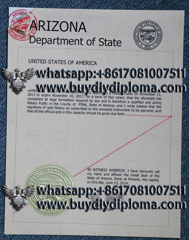 Arizona certificate