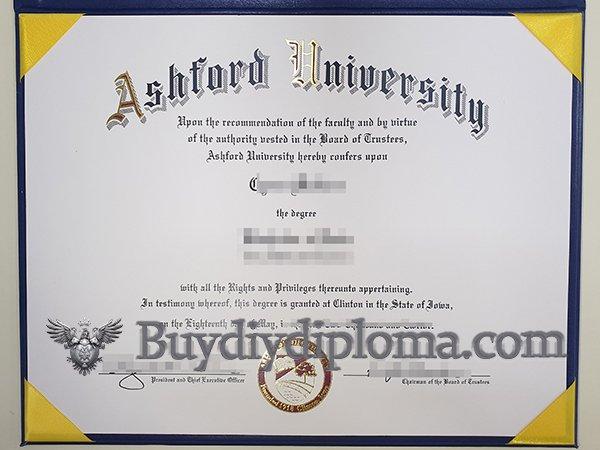 fake Ashford University diploma