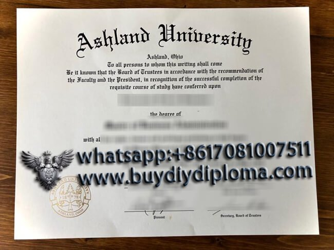 Ashland University diploma