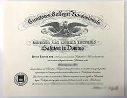 Boston College fake diploma