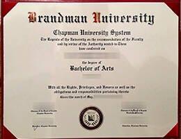 Brandman University fake diploma
