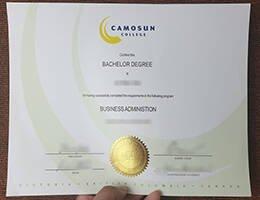 CAMOSUN COLLEGE fake diploma