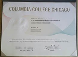 Columbia College Chicago diploma