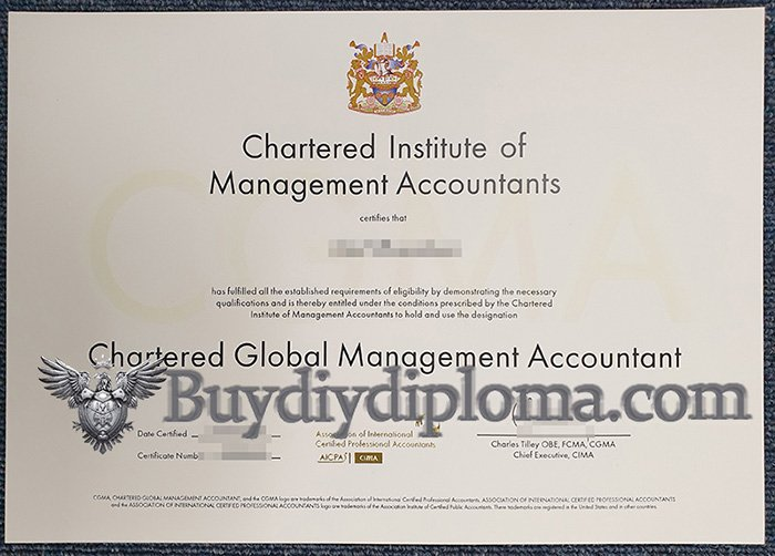 fake Chartered Global Management Accountant certificate, fake CGMA certificate
