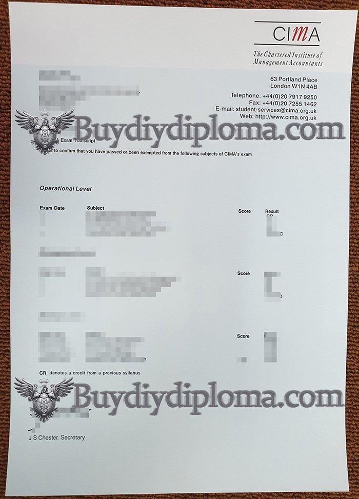 fake CIMA certificate, fake CIMA transcript
