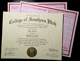 College of Southern Uta diploma