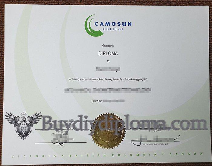 fake Camosun College diploma, fake Canada diploma