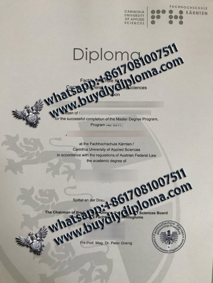 What's the cost to get a fake FH Kärnten diploma in German