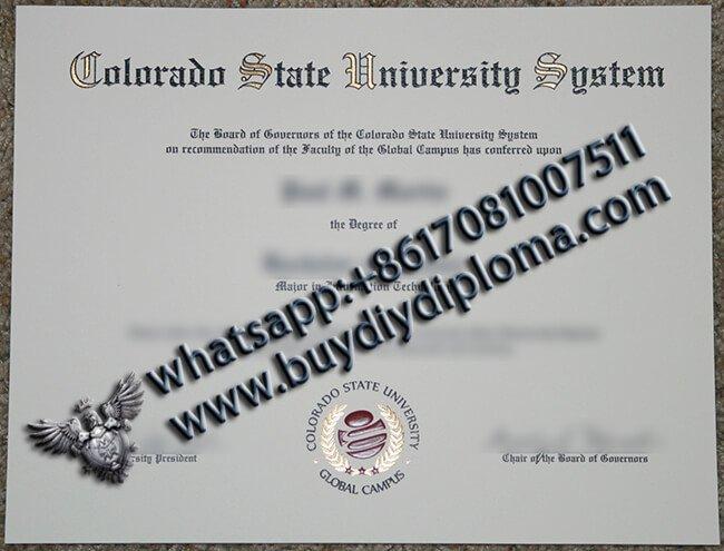 Buy CSUS diploma, Colorado State University System Diploma