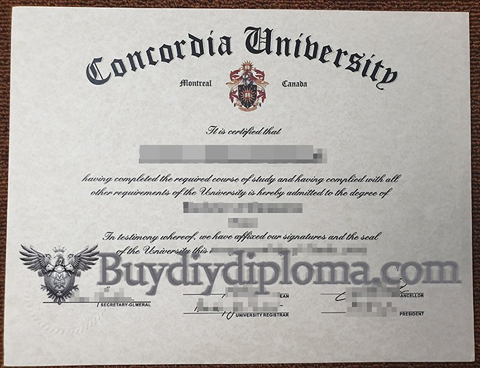 Steps to order a fake Concordia University diploma online