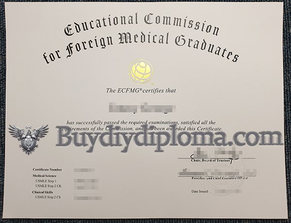 Buy A Fake ECFMG Certificate in United States?