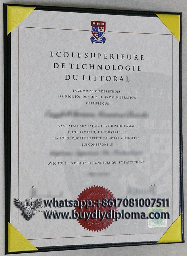 Fake Ecole Supérieure De Technologie Du Littoral diploma for selling