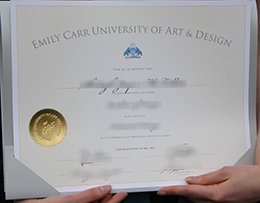 Emily Carr University diploma
