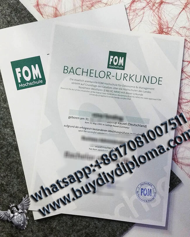 How to Purchase a High Quality FOM Hochschule Diploma(BA Degree 2021)?