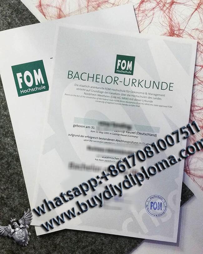 Fake FOM Hochschule Diploma2