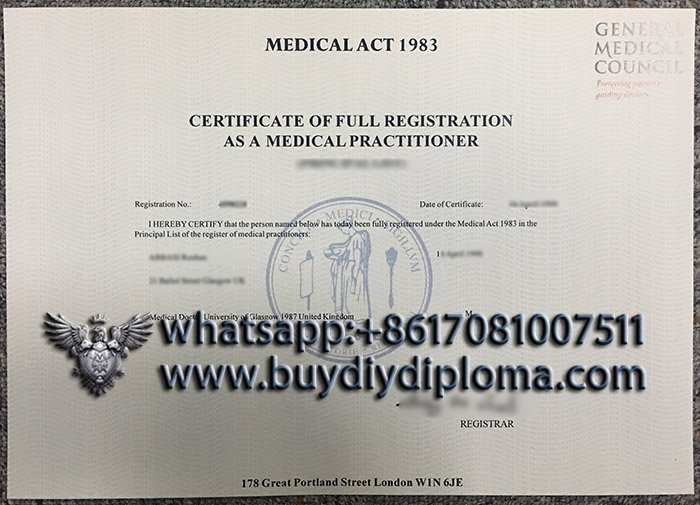 fake General Medical Council certificate, fake GMC certificate, fake medical certificate,
