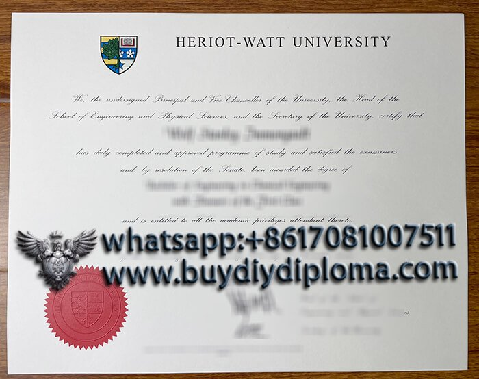 buy Heriot-Watt University fake degree