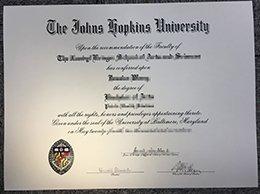 JHU degree