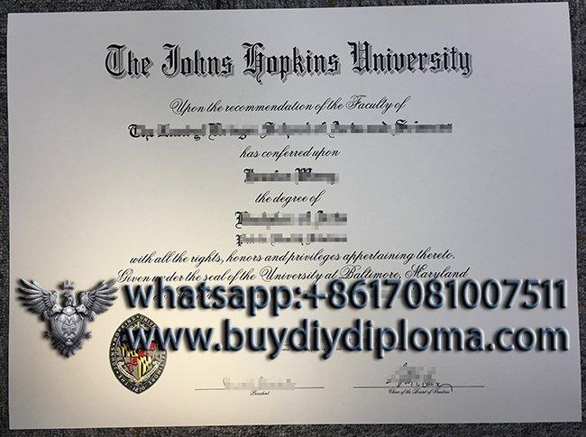 Obtain a fake Johns Hopkins University diploma, buy JHU degree