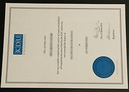 KDU University diploma