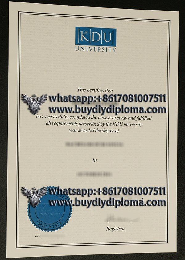 buy a fake KDU University diploma in Malaysia