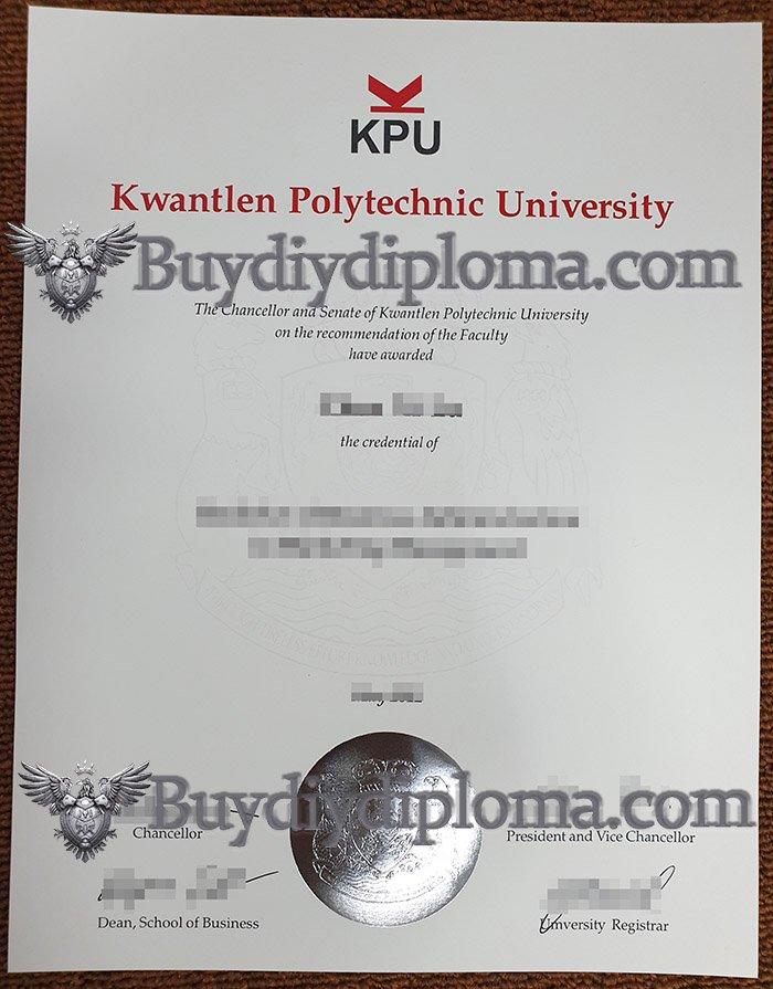 fake KPU diploma, fake Kwantlen Polytechnic University degree