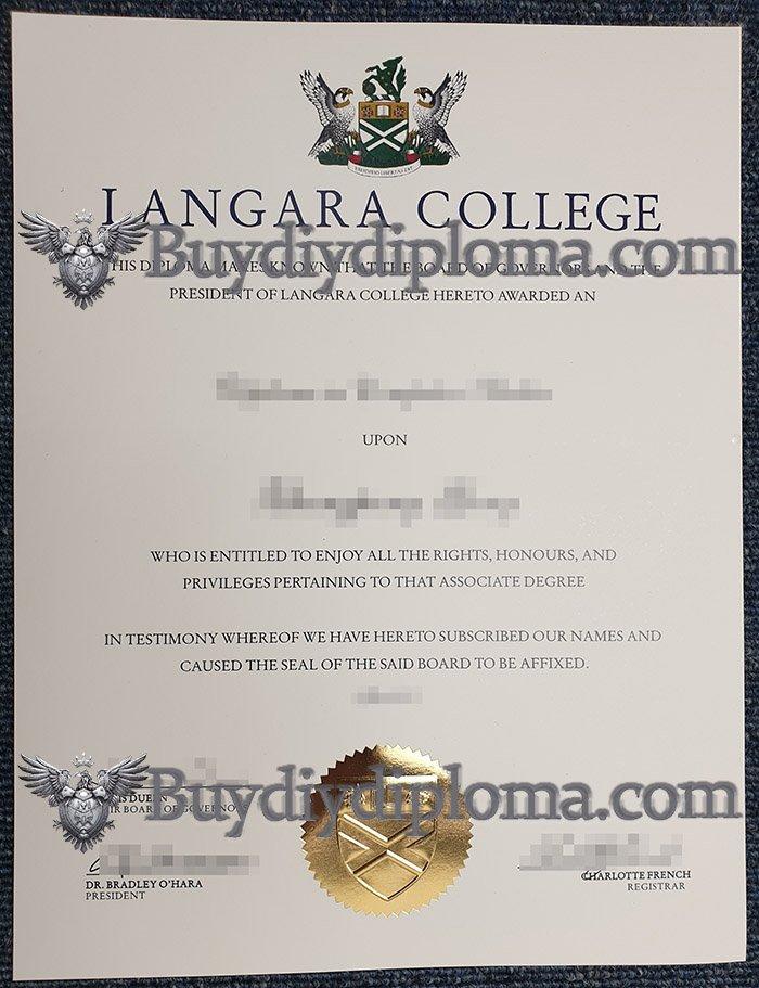 Methods to get a fake Langara College diploma in 7 days