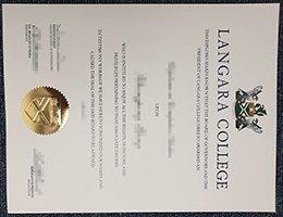 fake Langara College diploma, buy Langara College certificate