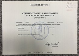 certificate of full registration as a medical practitioner