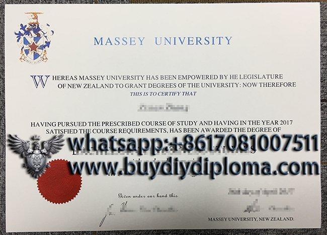 Massey University diploma