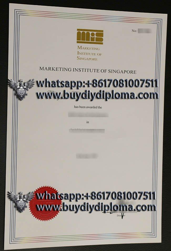 Marketing Institute of Singapore diploma