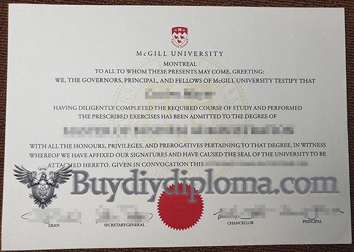 fake McGill University diploma, fake McGill University degree,