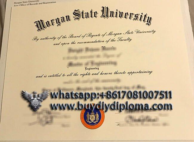 Morgan State University Diploma