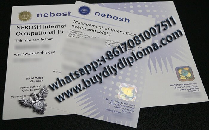 Buy Fake NEBOSH IGC Certificate Online?